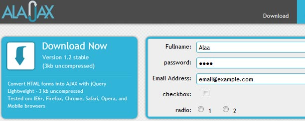 How to convert HTML Forms into AJAX simply
